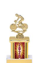 "2020 Trophy with Rectangular Column - 9"""