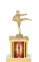 2020 Trophy with Rectangular Column - 9""