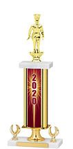 2020 Gold Dated Trophy - 2 Eagle Base - 16-18""