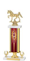 """2020 Gold Dated Trophy - 2 Eagle Base - 16-18"""""""