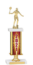 2020 Gold Dated Trophy with Rectangular Column - 14-16""