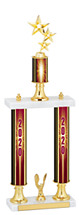 2020 Double Column Dated Gold Trophy - 20-22""