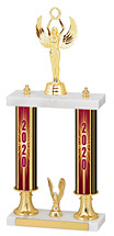 """2020 Dated Gold Double Column Trophy - 15-17"""""""