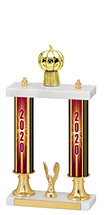 2020 Dated Gold Double Column Trophy - 15-17""