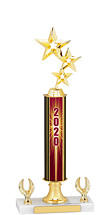 2020 Dated Gold Trophy - 2 Eagle Base - 14-16""