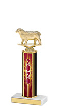 2020 Round Column Dated Gold Trophy - 10-12""
