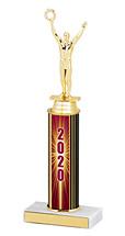 "2020 Round Column Dated Gold Trophy - 10-12"""