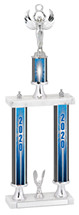 """2020 Trophy with Double Column Base - 20-22"""""""