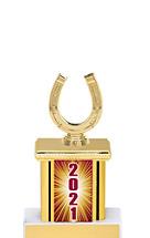 "2021 Trophy with Rectangular Column - 9"""