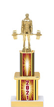 """2021 Trophy with Twin Column - 12"""""""