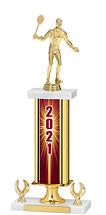 """2021 Gold Dated Trophy - 2 Eagle Base - 16-18"""""""