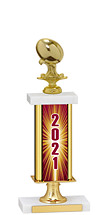 """2021 Gold Dated Trophy with Rectangular Column - 14-16"""""""