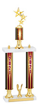 2021 Double Column Dated Gold Trophy - 20-22""