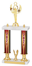 """2021 Dated Gold Double Column Trophy - 15-17"""""""