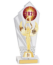 "Small 2021 Acrylic Trophy - 10 1/2"""