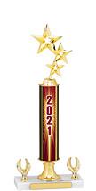 """2021 Dated Gold Trophy - 2 Eagle Base - 14-16"""""""