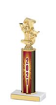 "2021 Round Column Dated Gold Trophy - 10-12"""