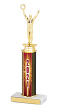 2021 Round Column Dated Gold Trophy - 10-12""
