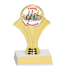 "5 1/2"" Fan Trophy w/ Holographic Emblem"