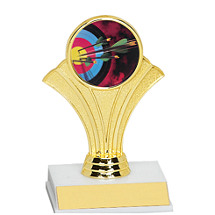 "5 1/2"" Fan Trophy w/ Holographic Emblem"