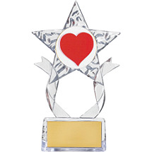 "7 1/2"" Clear Acrylic Star Emblem Trophy"