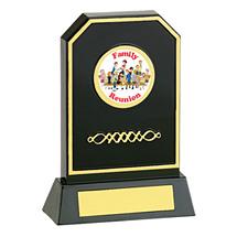 "6 3/4"" Holographic Black Acrylic Trophy"