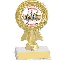"6"" Gold Ribbon Trophy w/ Holographic Emblem"