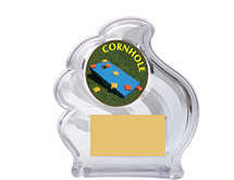 Clear Acrylic Wave Emblem Trophy