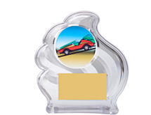 Clear Acrylic Wave Emblem Trophy