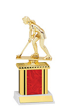 Holographic Red Trophy with Rectangular Column - 9""