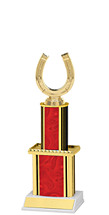 Holographic Red Trophy with Twin Column - 12""