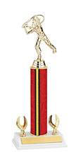 """12-14"""" Red and Gold Trophy with 2 Eagle Base"""