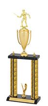 "18-20"" Holographic Black & Gold Trophy with Cup"