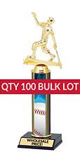 Buy in Bulk Baseball Trophy - Classic 10 inch Baseball Trophy - Qty of 100