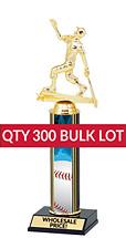 Buy in Bulk Baseball Trophy - Classic 10 inch Baseball Trophy - Qty of 300