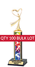 Buy in Bulk Dance Trophy - Classic 10 inch Dance Trophy - Qty of 100