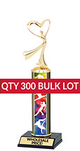 Buy in Bulk Dance Trophy - Classic 10 inch Dance Trophy - Qty of 300
