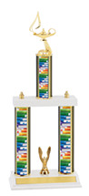 "Education Trophy - 18-20"" Triple Column Trophy"