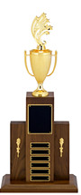 "30"" Perpetual Trophy with Figure - 6 Nameplates"