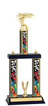 "Pinewood Derby Trophy - 15 1/2-17 1/2"" Three Column Trophy"