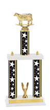 "Stars Trophy - 18-20"" Triple Column Trophy"