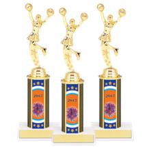 "9 3/4"" Super Saver Cheer 2017 Package Deal - 8 Female Cheer Trophies"