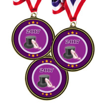 "Dance Medals - 2 1/2"" Super Saver 2017 Dance Medal Package Deal - Set of 12"