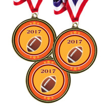 "2 1/2"" 2017 Super Saver Football Medal Package Deal - 15 Football Medals"