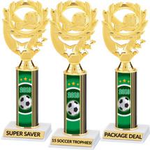 Soccer Trophies - 2018 Super Saver Soccer Package Deal - 15 Soccer Trophies