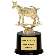 Custom Engraved Goat Trophy