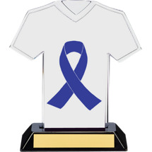 Purple Ribbon Awareness Trophy - 7 inches