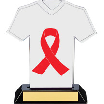 Red Ribbon Awareness Trophy - 7 inches