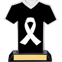 White Ribbon Awareness Trophy - 7 inches