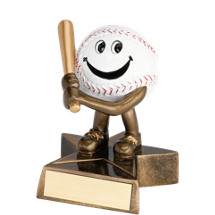 Baseball Trophy - Resin Happy Baseball Trophy